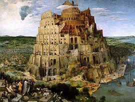 A Torre de Babel, por Pieter Brueghel